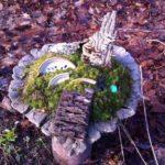Faery Garden in Rhubarb Leaf